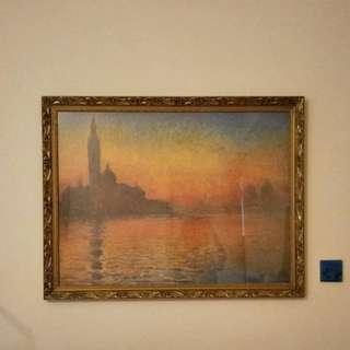 Monet Print / Framed Wall Picture