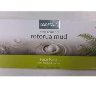 Brand New Wild Ferns New Zealand Rotorua Mud Face Pack with Manuka Honey 20g