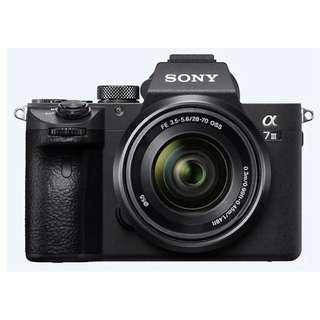 Sony α7 III Kit Mirrorless Digital Camera with 35 mm full-frame image sensor - Includes Free 64GB Card & FZ100 Battery