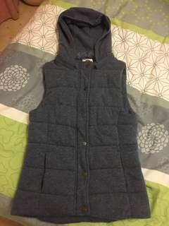 XS cotton in women's puffer vest