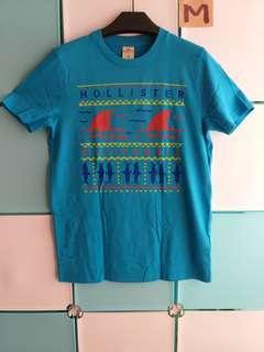 HOLLISTER 棉質圓領短袖休閒T恤 M