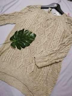 Lace knit top