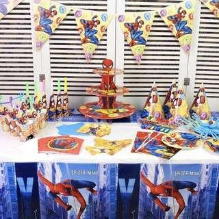 Superheroes Spiderman party supplies - tablecloth / table cover