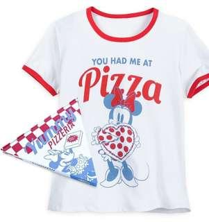 Minnie Mouse Pizza Ringer T-Shirt for Women