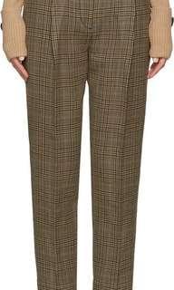 🍀Buy3 Take1🍀 Plaid Brown Trouser