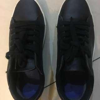 Zara Trafaluc Faux Leather Sneaker