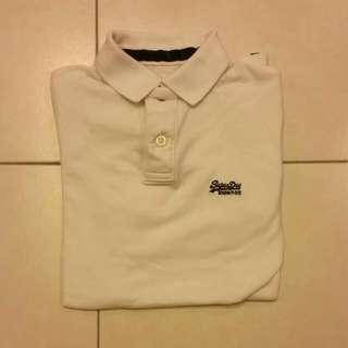 Used SuperDry White Polo T