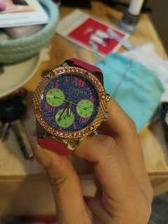 Guess watch bling bling