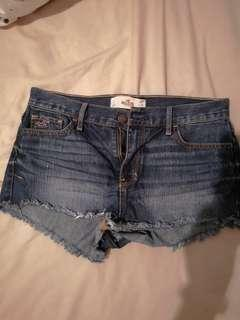 Hollister Blue Denim Short Shorts
