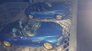 Pair of 1/18 BMW Z3M roadster