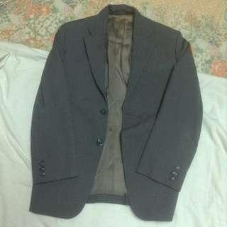 Grey formal coat
