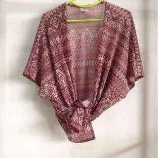 #MMAR18 Red Aztec Prints Kimono Cardigan