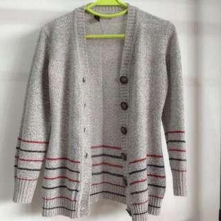 #MMAR18 Grey Wool 3/4 Sleeve Cardigan