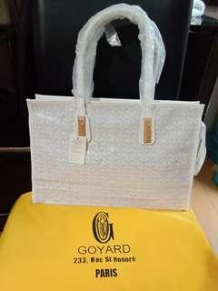 Tote bag with zipper white