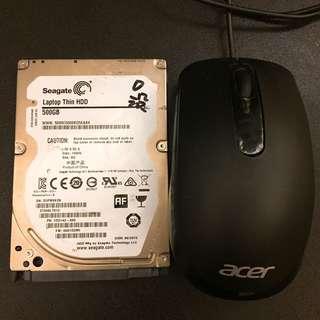 🚚 「清倉」筆電硬碟500G