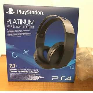 Brand new (unopened) PS4 Platinum Wireless Headset 7.1
