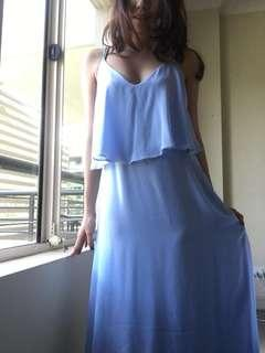 Sexy and Elegant light blue formal dress for rent