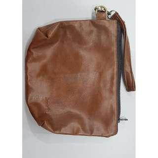 leather small bag or pouch