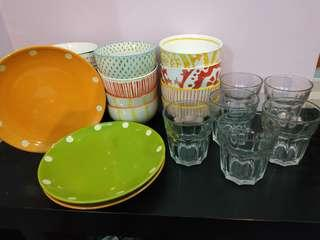 Plates, Bowls & Glasses