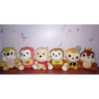 Chipmunks & Monkey Stuffed Toys Bundle