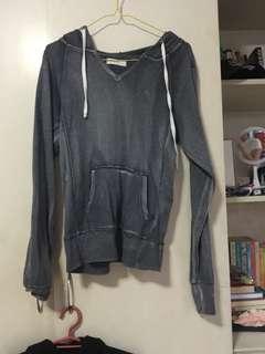 gray peasant hoodie