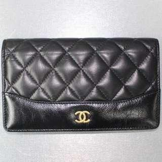 Chanel Black Calf Long Wallet