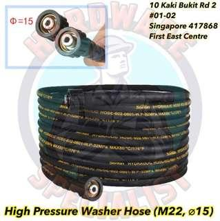 High Pressure Washer Replacement Hose (M22, ø15)
