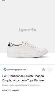 The Iconic Lavish Rhonda Shoes White Sneakers