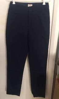 Gorman navy peg leg pants size 8