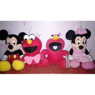 Mickey Mouse & Elmo Stuffed Toys Bundle
