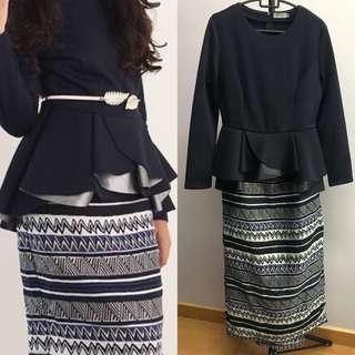 Zalia peplum and skirt