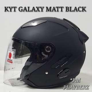 🚚 KYT GALAXY MATT BLACK HELMET..😎!!