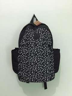 Reebok Backpack Black Pattern / Tas Gendong Reebok Corak Hitam