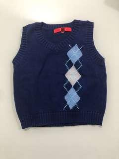🚚 knitted vest 12 months