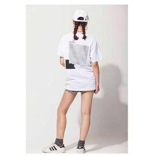 korean white streetwear tee