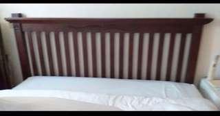 🚚 Solid teakwood bed head