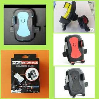 🆕Universal smart phone holder for bicycle bike e.scooter motorbike PMD, colour; red, yellow, blue, black. BNIP自行车电动车摩多车智能手机通用座柄