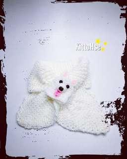 手織小童頸巾(銀狐犬)