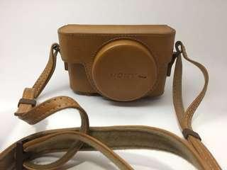 premium jacket case brown, buat kamera sony RX 100