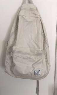 Herschel cream/light yellow canvas backpack