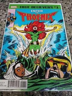 Marvel comics True Believers Phoenix X-men