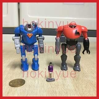 迷你先鋒 超人MICRO VERSE SUPERMAN KRYPTONIAN BATTLE SUIT VS. LEXOSKEL-5000 冇原裝包裝 未玩過未陳列過
