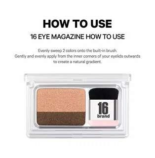 Sixteen eye magazine eyeshadow