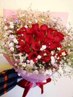 21 roses bouquet