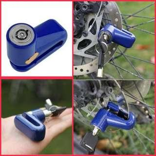 🆕Bicycle bike e.scooter motorcycle security safe disc wheel brake lock. ☑️Handy and ☑️rigid BNIP. 自行车电动车摩多车碟刹锁