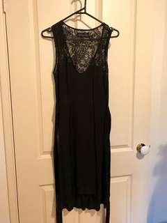 Ebony Eve black lace sweetheart dress sz 12