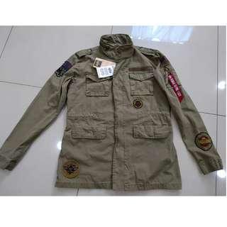 S號 Alpha Industries M65 Huntington patch twill field jacket