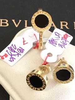 Real gold Set Earrings and ring