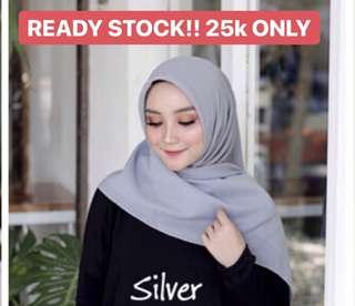 BELLA HIJAB SILVER - READY STOCK