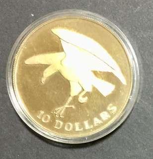 1974 sea eagle silver coin in capsule.